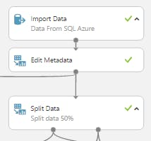 ML first step (add data to SQL and split data)
