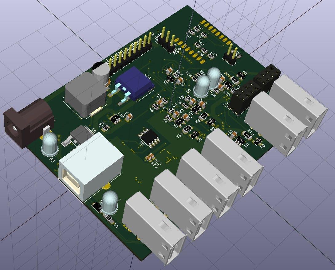 Smart Usb 4 Port Hub Power Meter With Lcd Buy Electronic Printed Circuit Boardboard Hubcircuit