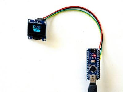 Bitmap animation in I2C OLED Display with Visuino
