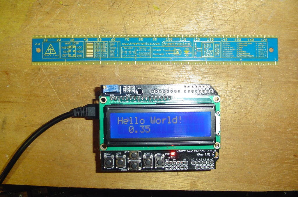 LCD Shield in Visuino - Tutorial/Experiment