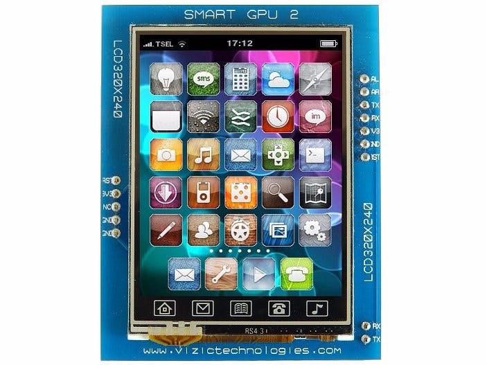 SmartGPU2 - Arduino Smartphone like GUI