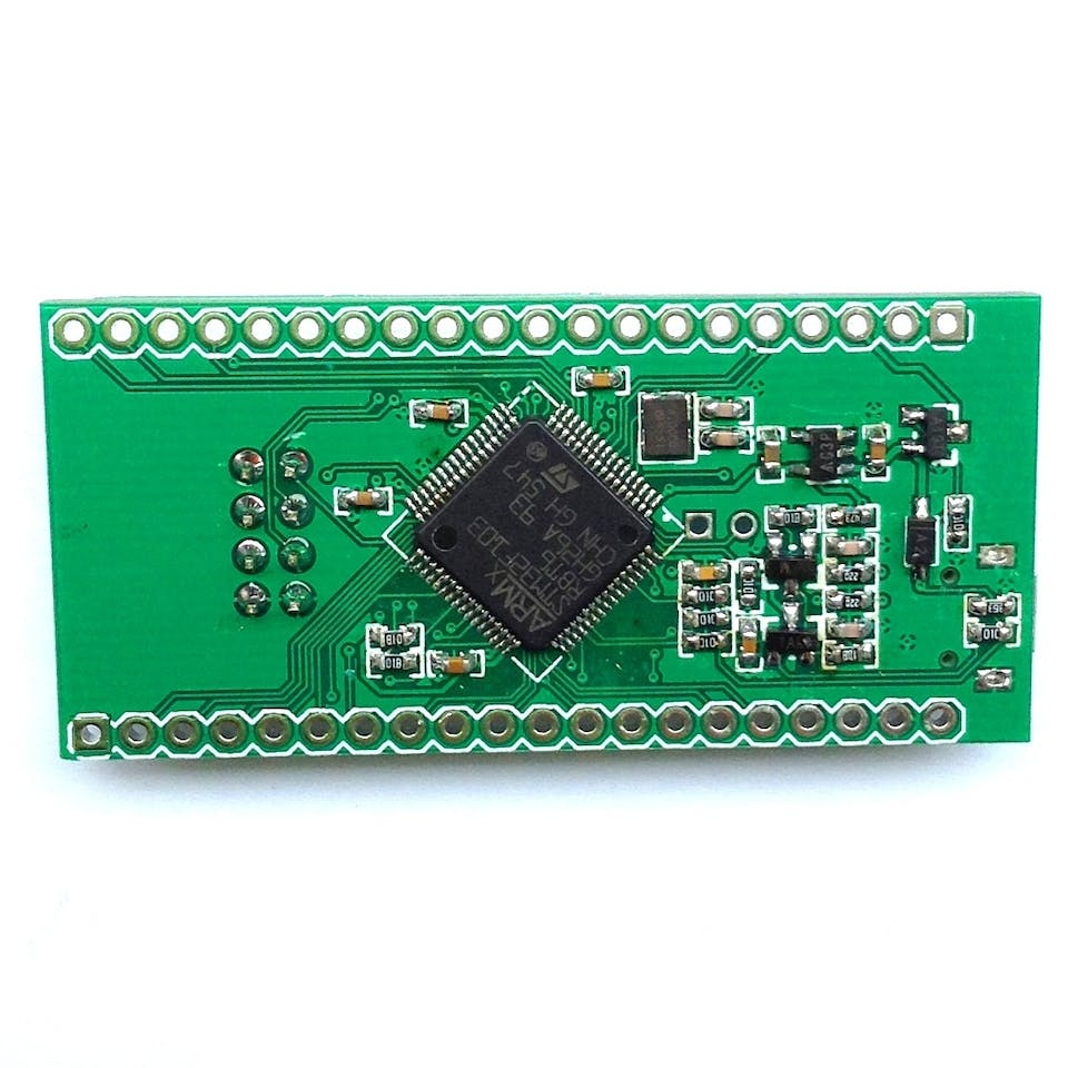 A Mini 9$ STM32duino STM32F103RB Board from AnalogLamb