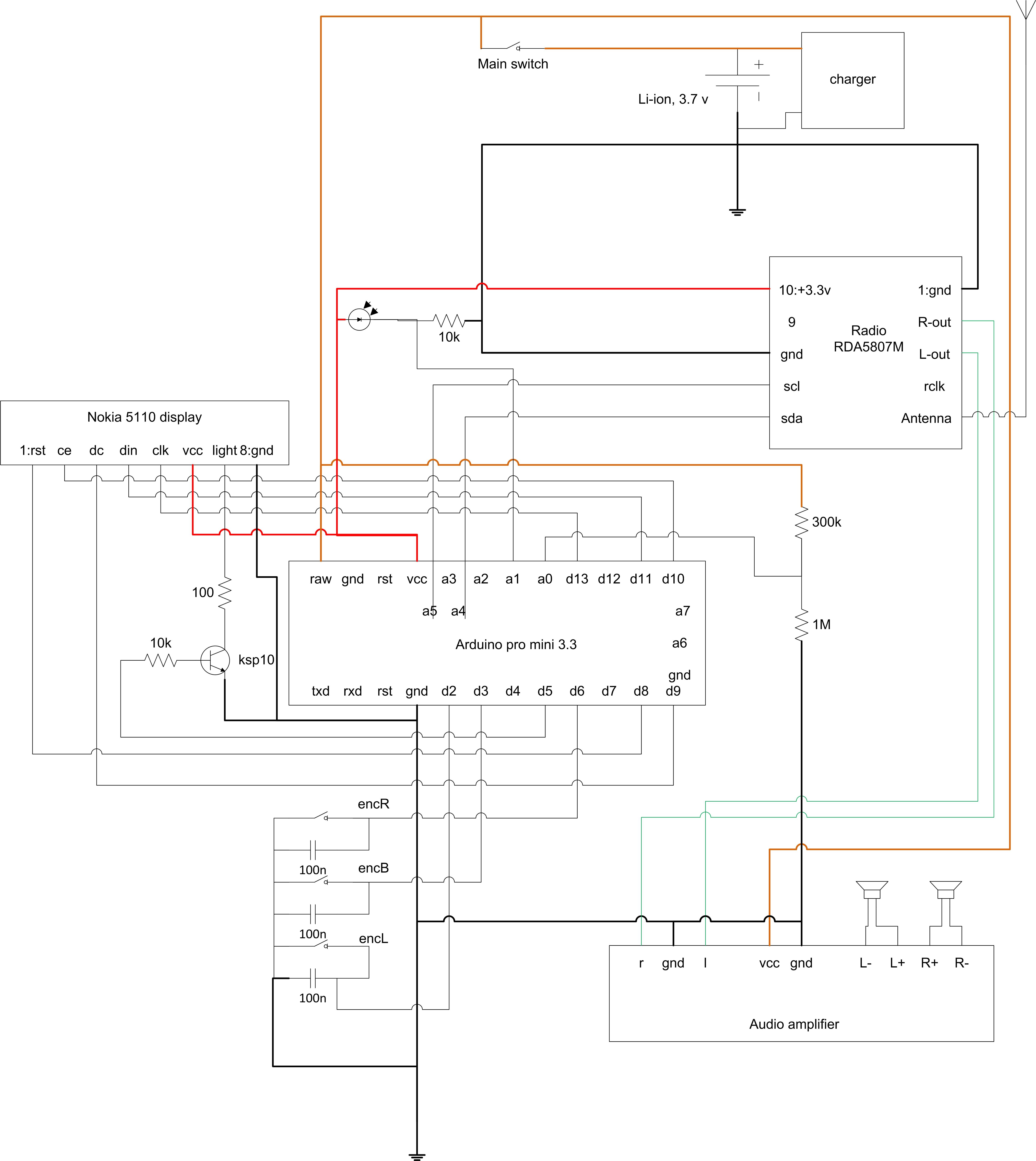 Simple Fm Radio Receiver Antenna Amplifier Circuit Diagram Schematics