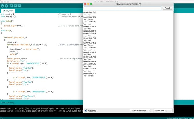 Arduino RFID Database