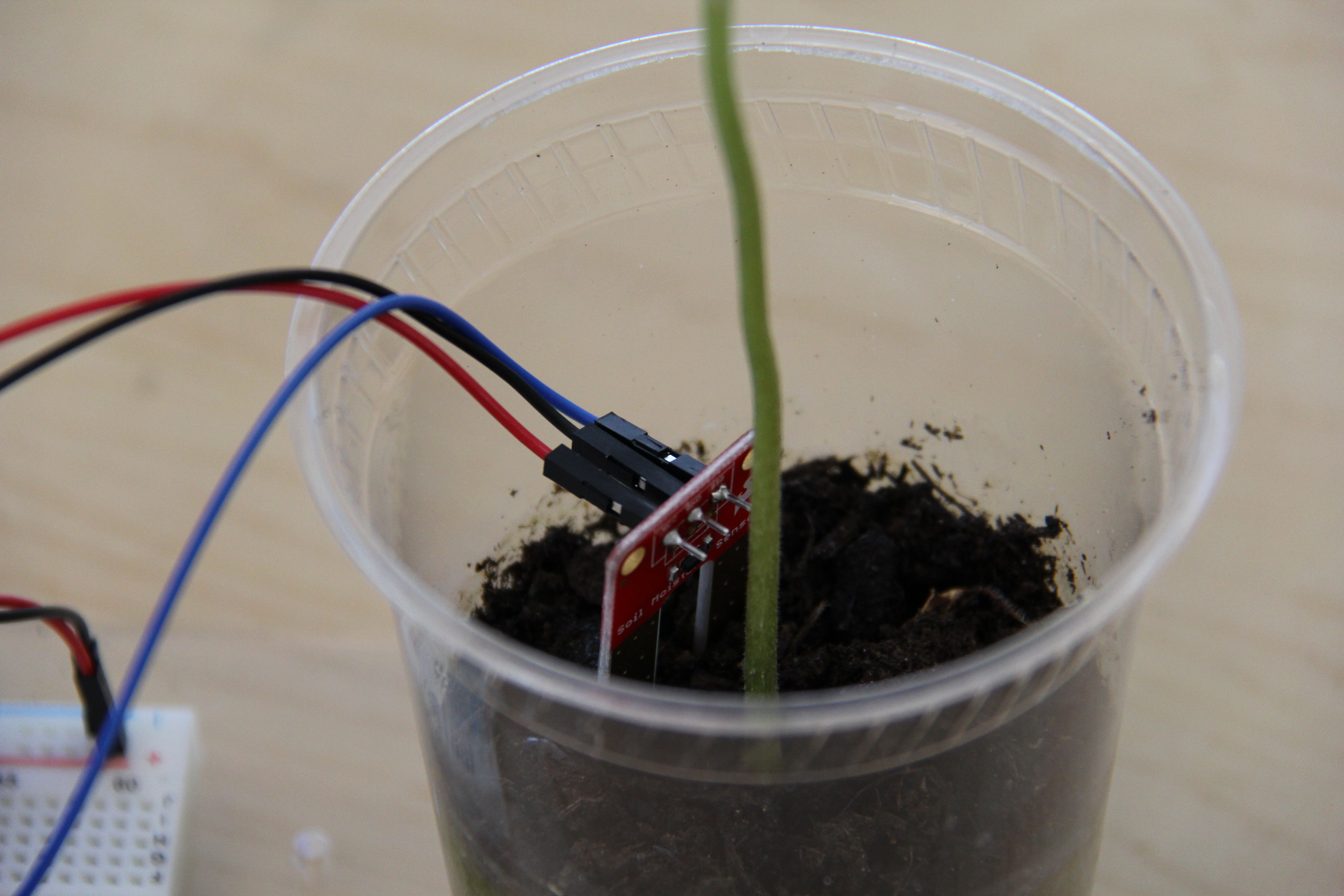 Soil Moisture sensor with soldered wires