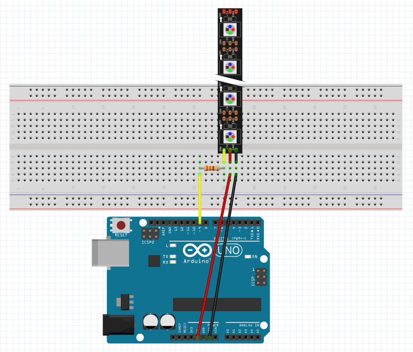 NeoPixel LEDs: Arduino Basics - ster.io on