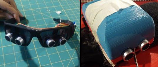 Front haptic module and side haptic module