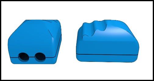 Enclosure of lateral haptic module