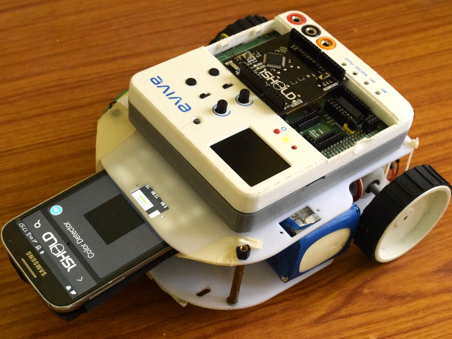 Line follower robot using a smart phone