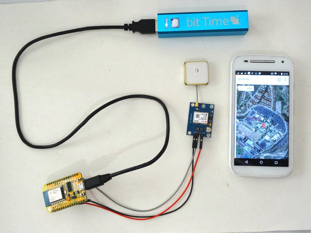 ESP8266: GPS Location web server with Google Maps