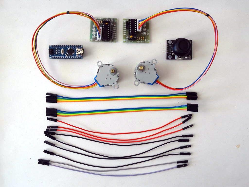 Arduino Nano Control 2 Stepper Motors With Joystick Sainsmart Wiring Diagram