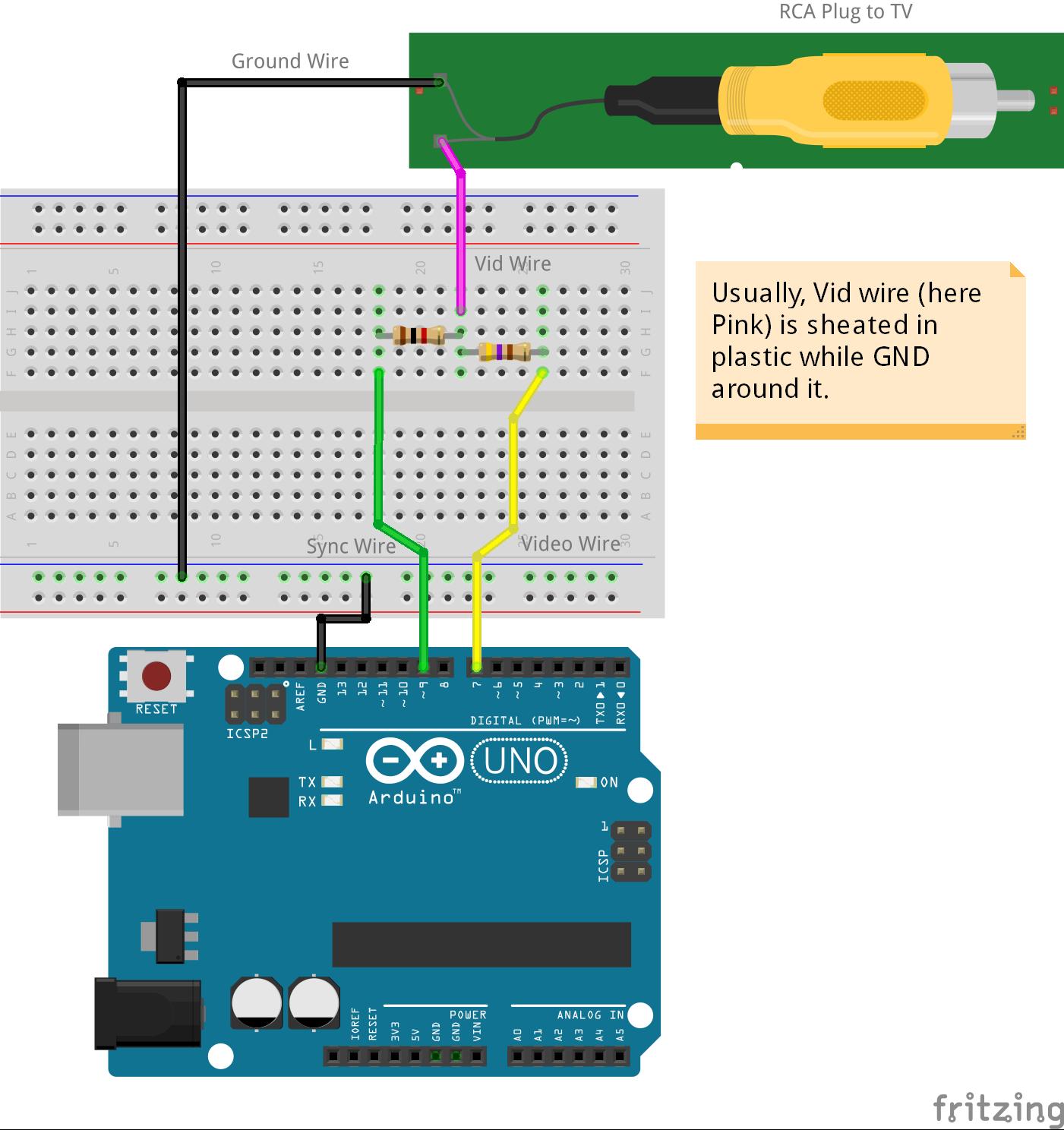 arduino tv out cable arduino project hub rh create arduino cc