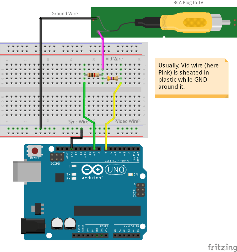 Arduino Tv Out Cable Project Hub Data Link Connector Wiring Diagram Get Free Image About