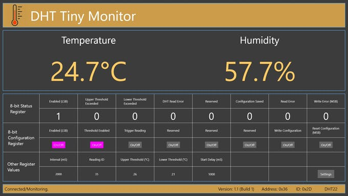 Temperature thresholds are enabled.