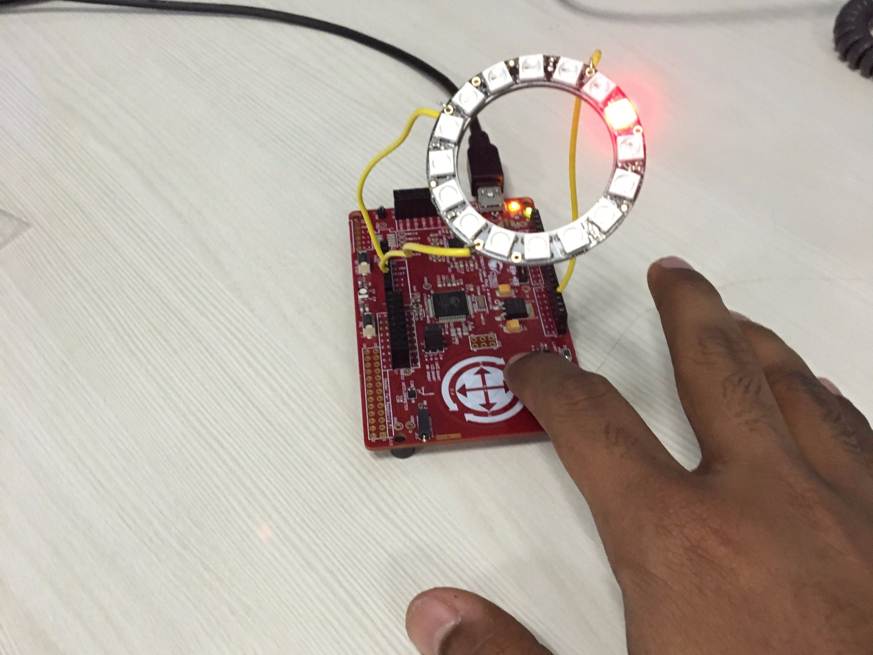 CapSense Gesture Recognition Using PSoC and WS2812