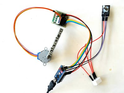 Arduino visuino control stepper motor with rotary for Arduino encoder motor control