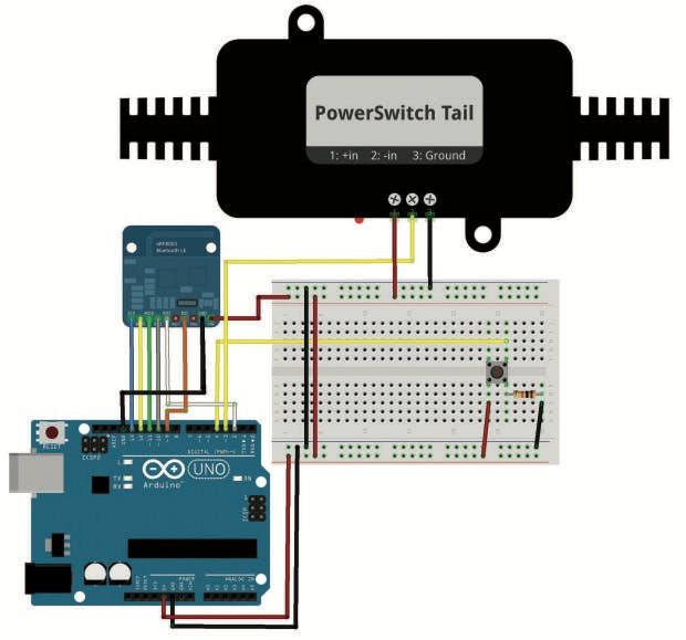 Figure 5: Swapping the LED for a PowerSwitch Tail