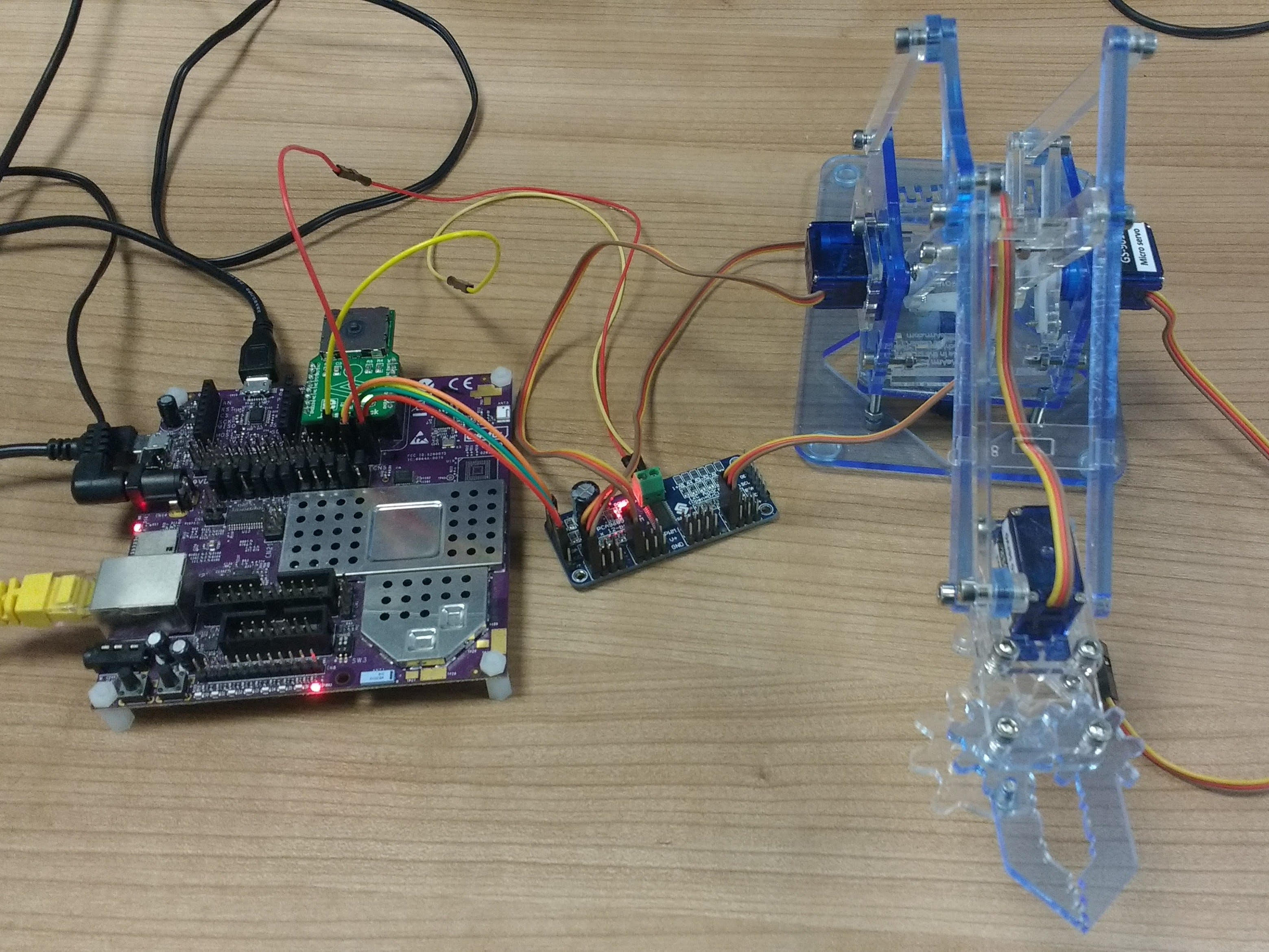 Controlling a Robotic Arm using the Creator Ci40