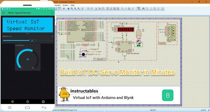 Virtual IoT With Proteus and Blynk : Servo Motor Monitor