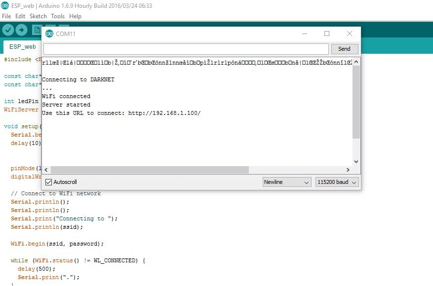ESP8266 ESP-01 Webserver - Hackster io