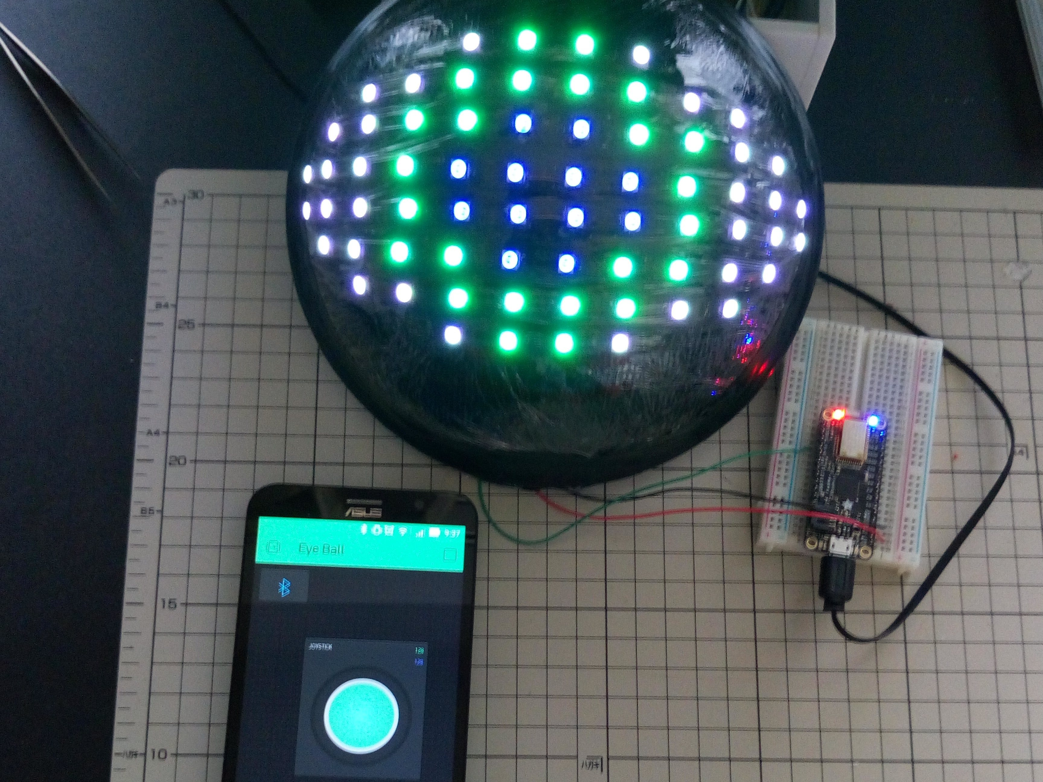 Neopixel LED EyeBall by Blynk