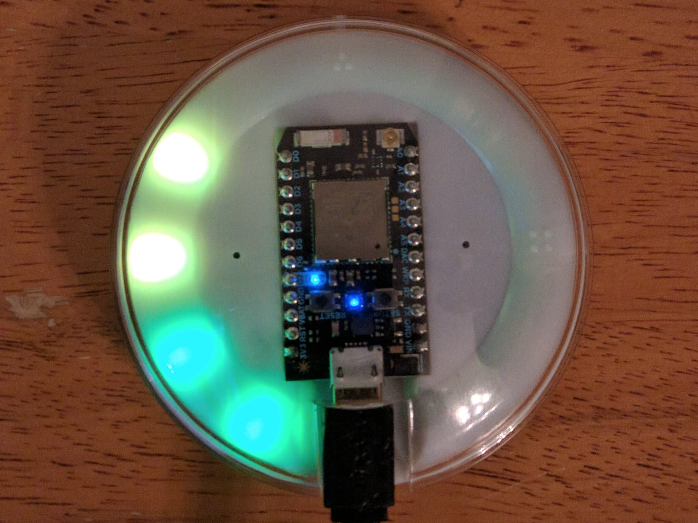 Air Quality Index Monitoring with Photon Internet Button