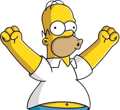 Homer excited