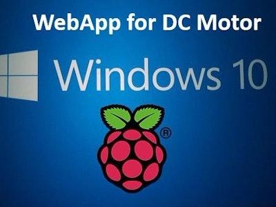Webserver controls DC motor