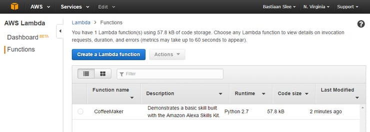 Create a Lambda function