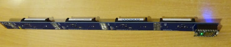 Development version with PCB batteries