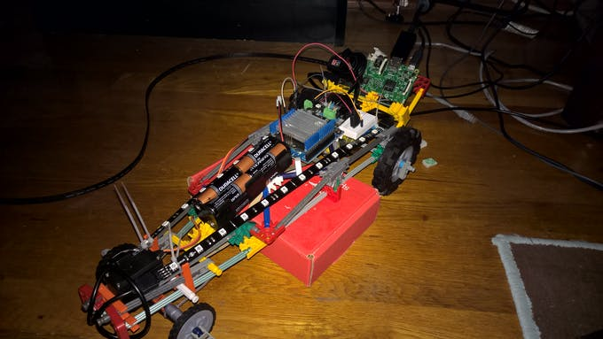 Testing the motors on the car
