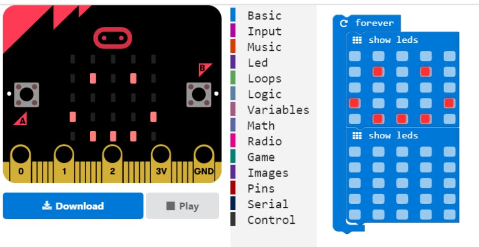 pxt.microbit.org provides a drag-and-drop coding experience based on Google Blockly