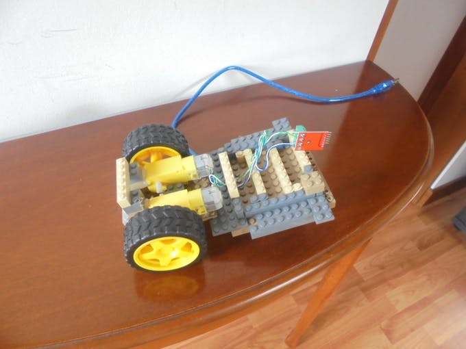 Assembly of Motors and Wheels in the LEGO toy car