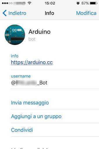 bot on Telegram