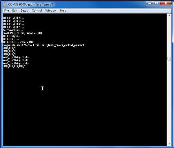 LYTWiFi debug serial port log