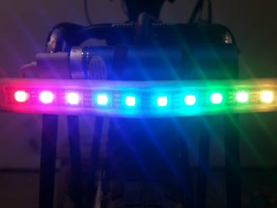 Simple LED Strip Bicycle Tail Light