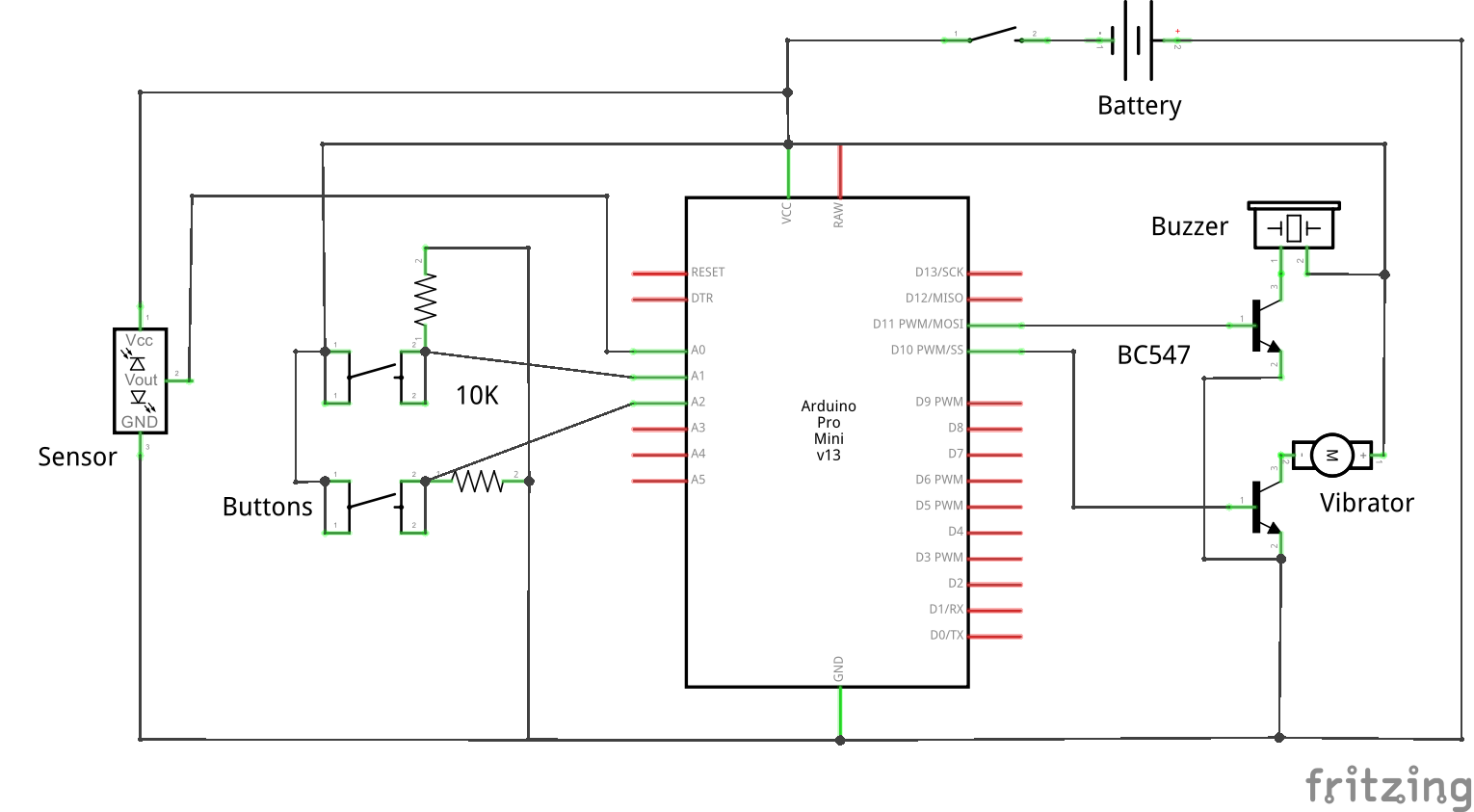 Vision A Torch For The Visually Impaired Ultrasonic Transmitter Switch Circuit Schematic Diagram Complete Project