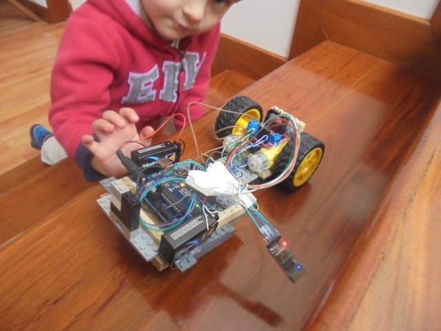 Bluetooth  Controlled LEGO Toy Car
