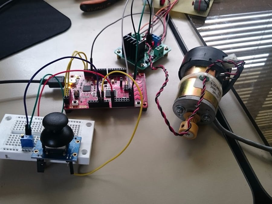 Joystick Controlled DC Motor w/H-Bridge