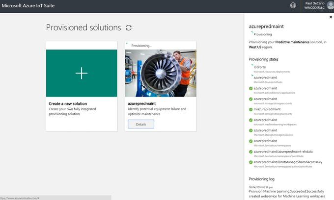 Jet Engine Monitor with Windows IoT Core and Azure IoT Suite