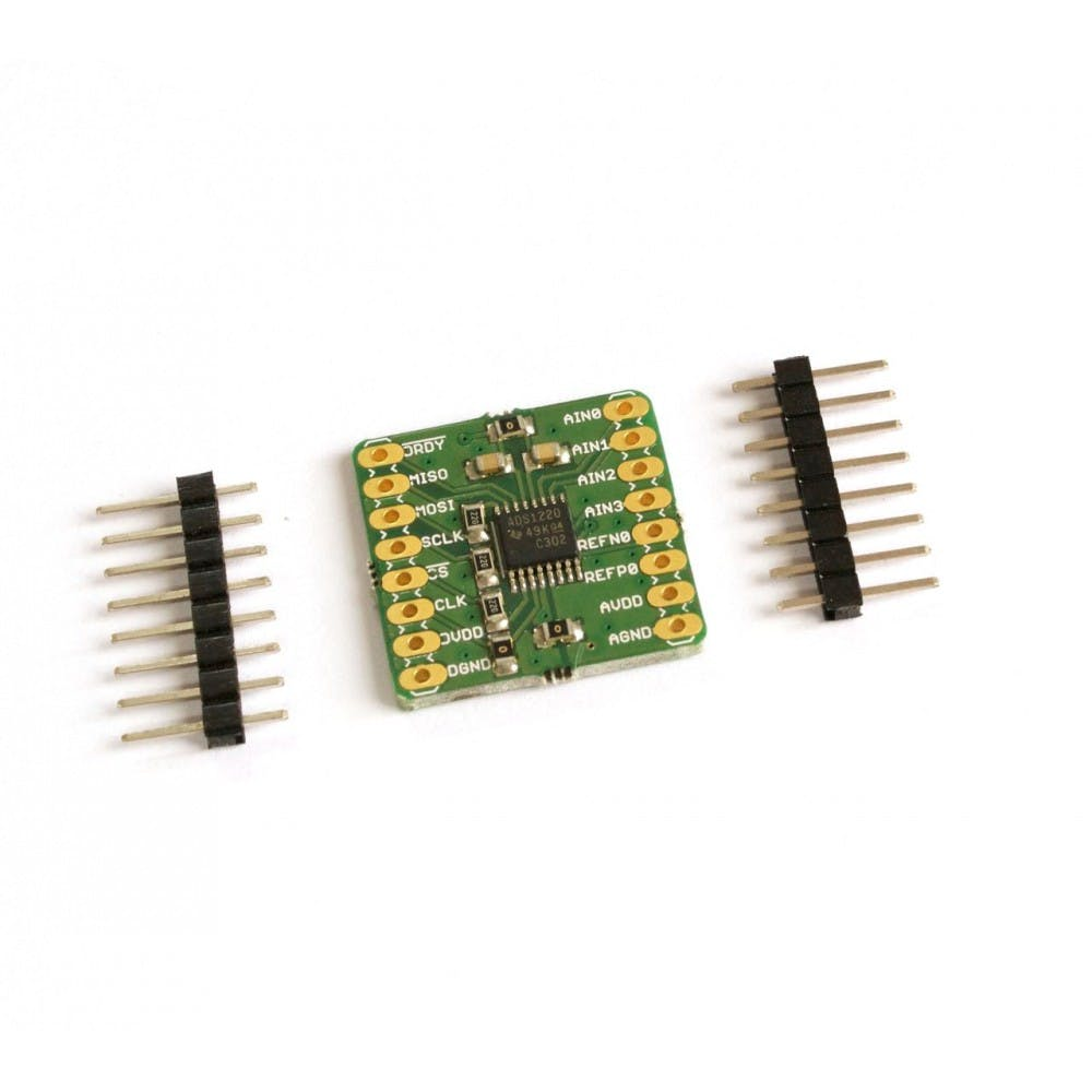 ADS1220 24-bit, 4-channel Low Noise ADC Breakout Board