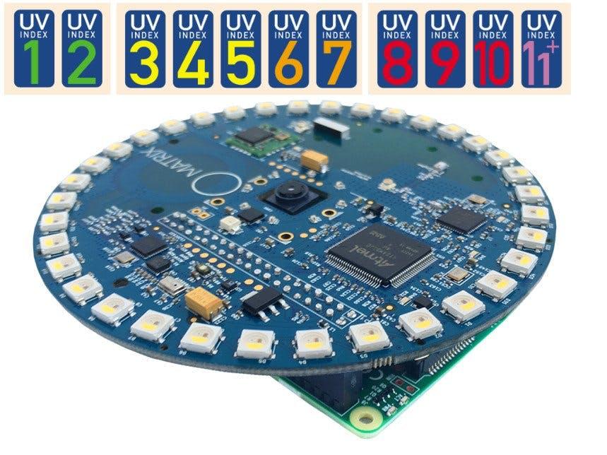 UV sensor with MATRIX Creator