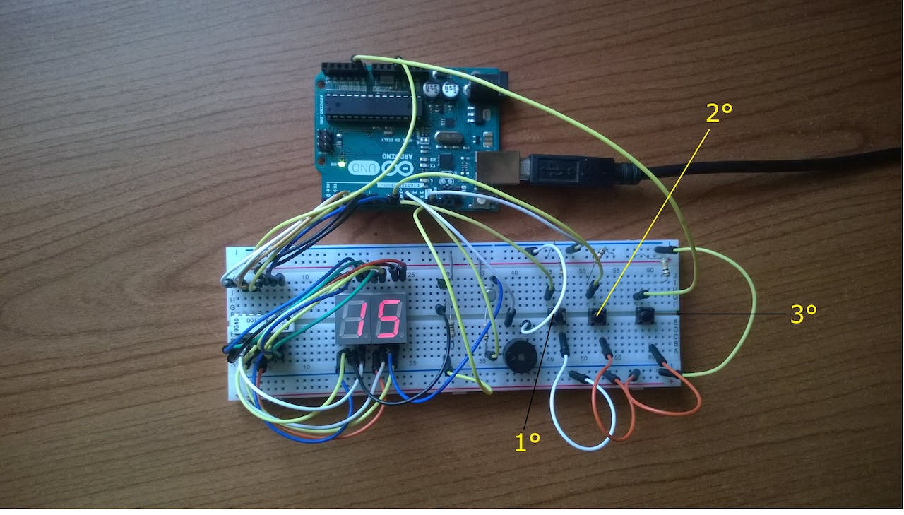 Easy Countdown With Buzzer Automatic Digital Visitor Counter Circuit Diagram Simple Electronics
