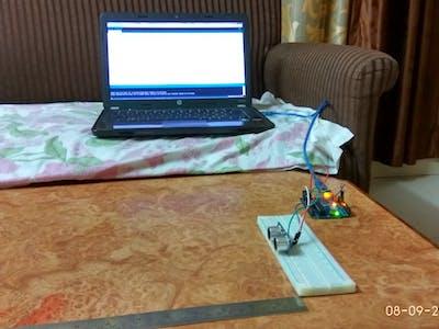 Measuring Distance using Ultrasonic sensor