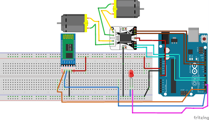 RC car connection diagram