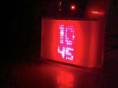 White Block Clock