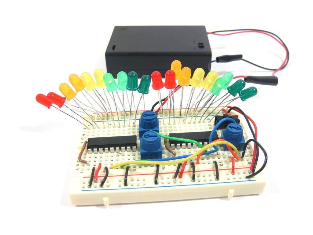 Mini Led Volume Towers Vu Meters 10 Bar Dot Meter Circuit Based Lm3915