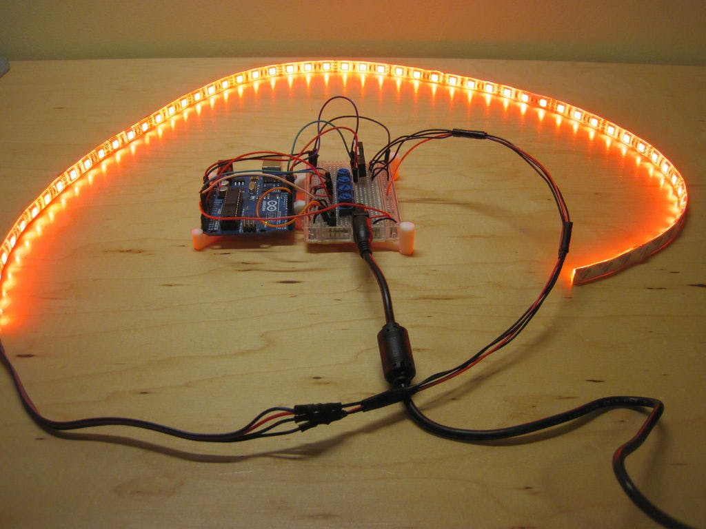 Arduino Controlled Rgb Led Infinity Mirror Strips Strip Circuit With View Original