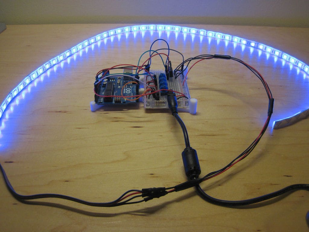 Arduino Controlled Rgb Led Infinity Mirror Completed Rainbow The Can Be Mounted Off Board Using Wires