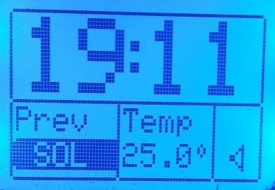 Alarm clock and temperature